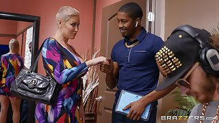 Doyen blonde doll Ryan Keely tries a juicy BBC on for size
